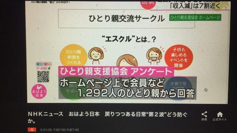NHKなど各種メディアに取り上げられました 臨時給付金にかかる要望